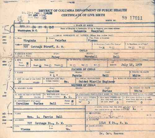 Birth Certificate copy 6 June 1990